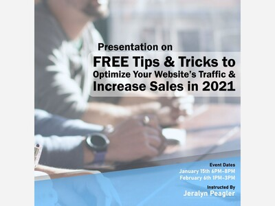 FREE Tips and Tricks to Optimize your Website's Traffic and Increase Sales